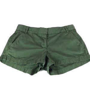 "J. Crew Bright Army Green 3"" Chino Shorts Sz. 4"